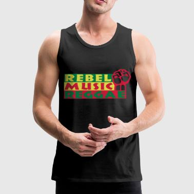 rebel music reggae - Men's Premium Tank Top