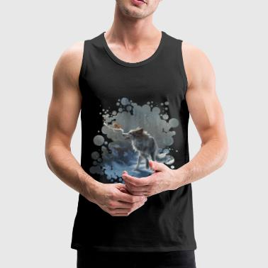 Winter Wolf & Squirrel - Tank top męski Premium