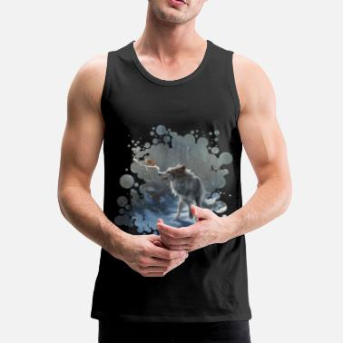 Winter Wolf & Squirrel - Premium tank top męski