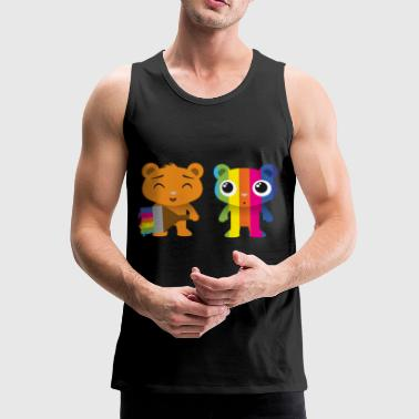 Bears painted with a brush - Men's Premium Tank Top