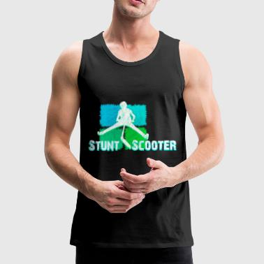 Stunt Scooter Kickboard Stunt Roller Action Shirt - Men's Premium Tank Top