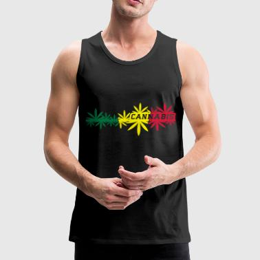 cannabis - Premium singlet for menn
