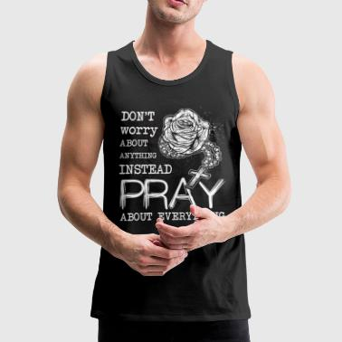 Rosary Christian Prayer Christianity - Men's Premium Tank Top
