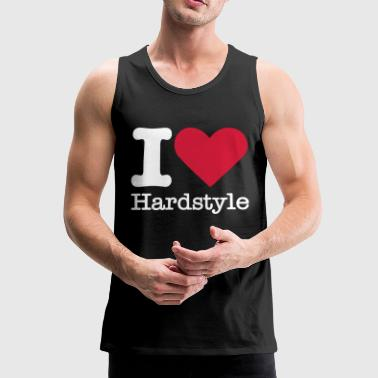 I Love Hardstyle - Men's Premium Tank Top