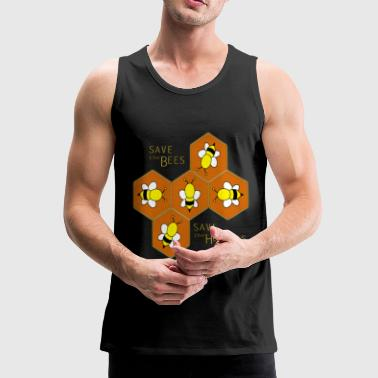 Save the bees, save the Humans - Men's Premium Tank Top