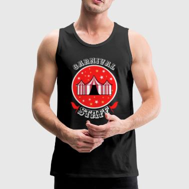 Carnival Staff - Funny Circus Motif Clown - Mannen Premium tank top