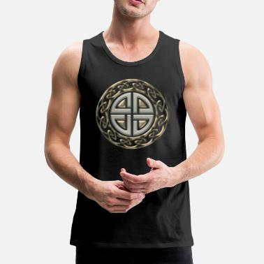 Symbol Celtic shield knot, Protection Amulet, Viking - Men's Premium Tank Top