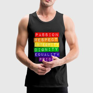 Pride LGBT gay lesbian homosexual marriage - Men's Premium Tank Top