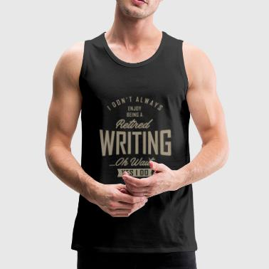Writing Writing - Men's Premium Tank Top
