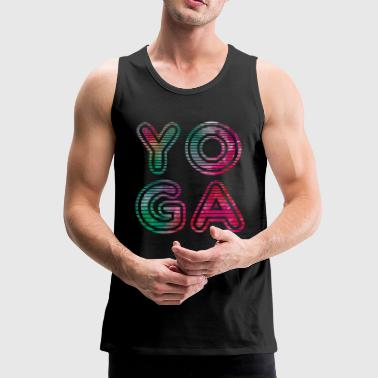 Yoga Typo - Men's Premium Tank Top