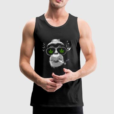 Chimpanzee with joint - Marijuana - Tank top premium hombre