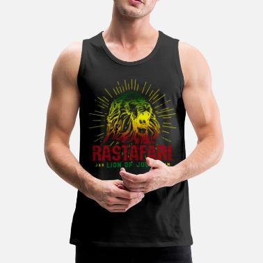 Reggae Rastafari Lion Of Judah - Rasta Reggae Jamaica - Men's Premium Tank Top