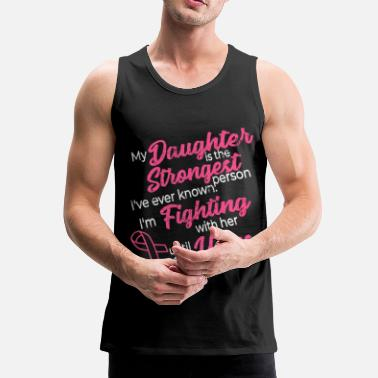 Breast Cancer Ribbon Breast cancer prevention daughter breast cancer month - Men's Premium Tank Top