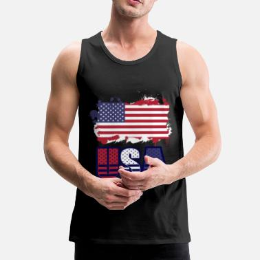 Usa USA - Men's Premium Tank Top