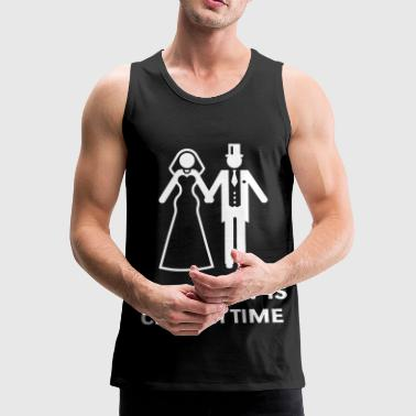 Embarrassing Stag Night Party Tomorrow Is Church Time! (Stag Party / Hen Night) - Men's Premium Tank Top