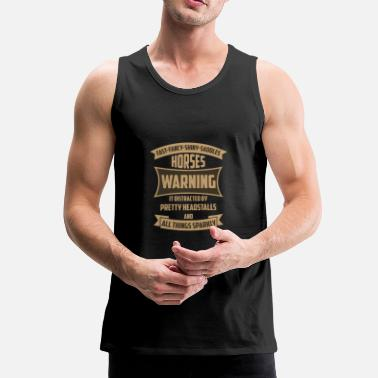 FAST FANCY SHINY SADDLE'S PAARDEN WAARSCHUWING - Mannen Premium tank top
