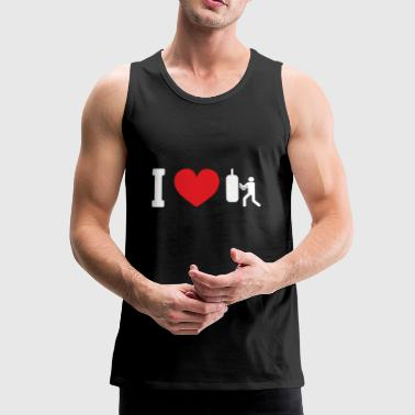 I Love Boxing / Kickboxing trainingsgeschenk - Mannen Premium tank top