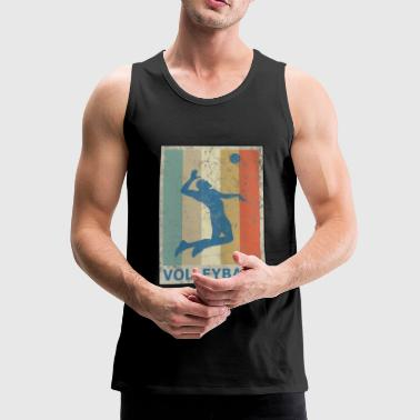 Retro Vintage Style Beach Volleyball Player - Herre Premium tanktop