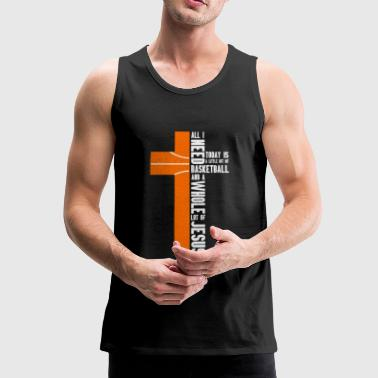 All i need today is a little bit of Ball and Jesus! - Men's Premium Tank Top
