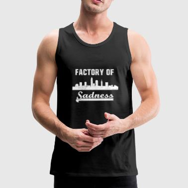 Factory Cleveland Factory of Sadness City Skyline Graphic - Men's Premium Tank Top