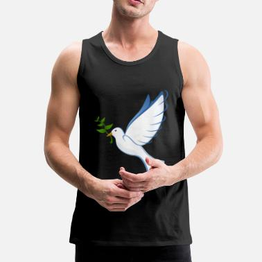 Dove Of Peace dove, peace dove, peace - Men's Premium Tank Top