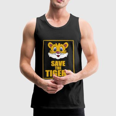 Save the Tigers - Save the Tiger - Men's Premium Tank Top