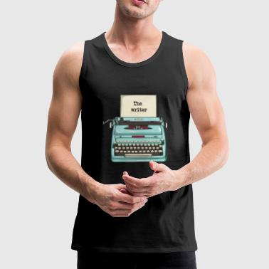 Typewriter - writer - Men's Premium Tank Top