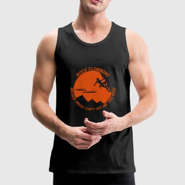 Panama Rock climbing - no drugs - Men's Premium Tank Top