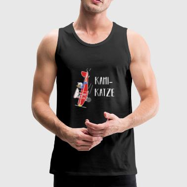 Kamikaze cat pun game gift idea - Men's Premium Tank Top