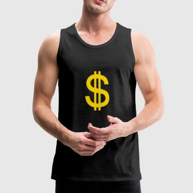 dollar - Men's Premium Tank Top