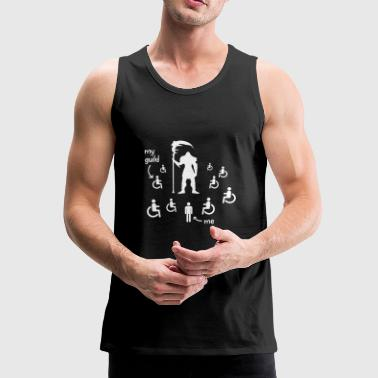 Awesome WoW Shirt: me vs. my guild at the raid - Men's Premium Tank Top