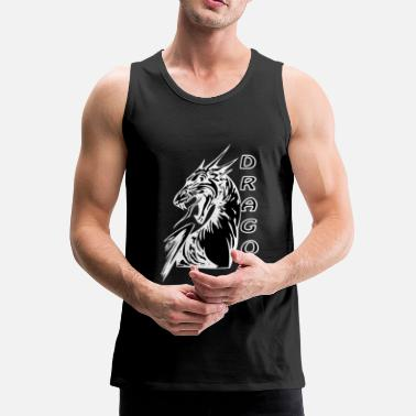 Dragon Head Angry dragon 2 black - Men's Premium Tank Top