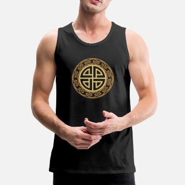 Symbol Celtic Shield Knot, Protection, Four Corner, Norse - Men's Premium Tank Top