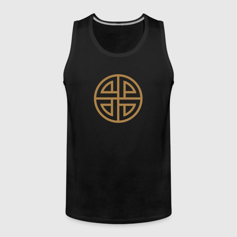 Thor Schildknoten, 4 Element, viking, celtic knot - Männer Premium Tank Top