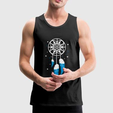 A dream catcher with three feathers - Men's Premium Tank Top