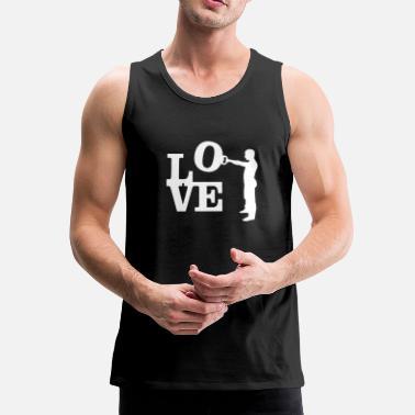 96e611b82376e7 Kettlebell Swing Love - Men  39 s Premium Tank Top. Men s Premium Tank Top.  Kettlebell Swing Love