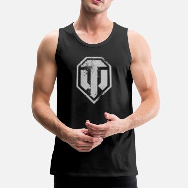 Officialbrands World of Tanks Logo - Men's Premium Tank Top