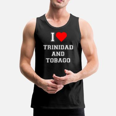 Trinidad And Tobago I love Trinidad and Tobago - Men's Premium Tank Top
