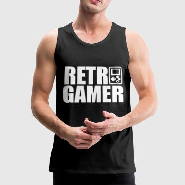 Raccoon Retro Gamer : Retro gaming - Men's Premium Tank Top