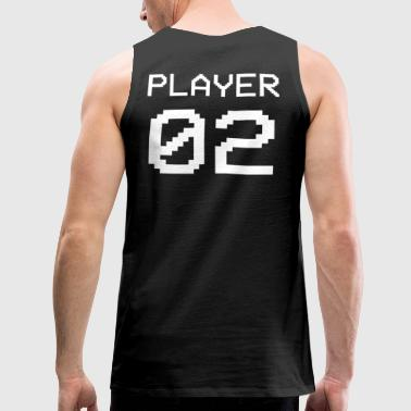 Player 02 Paar Nerd Geek - Männer Premium Tank Top