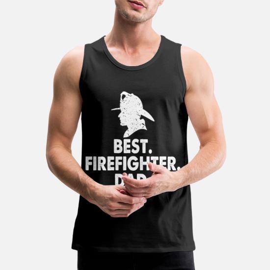646c9173f4537 Meilleur papa pompier Débardeur premium Homme | Spreadshirt