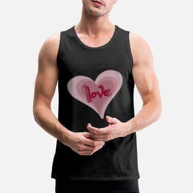Love With Heart Love with Heart - Männer Premium Tanktop
