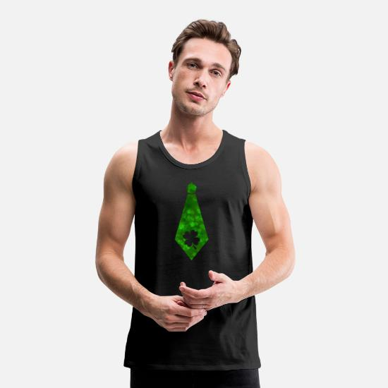 Necktie Tank Tops - Irish Tie St Patrick's Day - Men's Premium Tank Top black