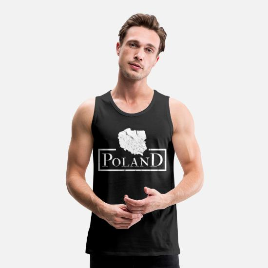 Patriot Tank Tops - Poland map gift idea - Men's Premium Tank Top black