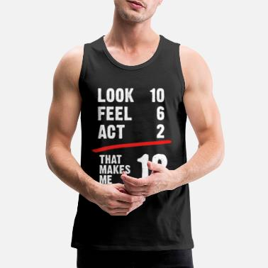 Age 18 years birthday adult legal age gift - Men's Premium Tank Top