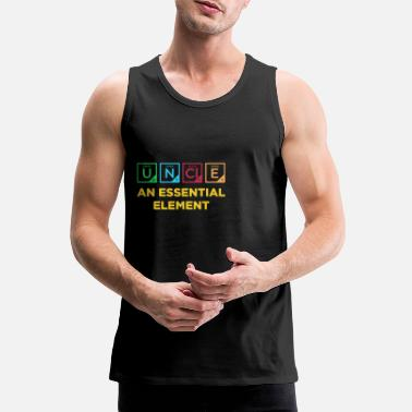Grappige Uncle Shirt Chemistry Periodic Table - Mannen Premium tank top