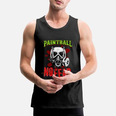 Paintball Paintball No Fear Paintball Player Paintball - Men's Premium Tank Top