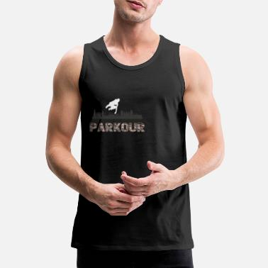Parkour Shirt Wall Climbing Bouldering Gift - Men's Premium Tank Top
