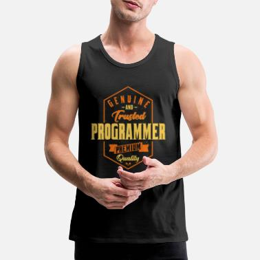 Genuine and trusted programmer - Men's Premium Tank Top