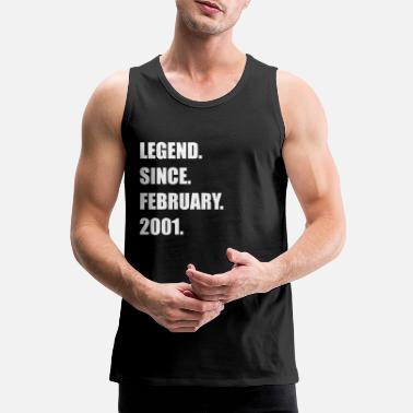 Legend Since February 2001 18 years old birthday - Men's Premium Tank Top
